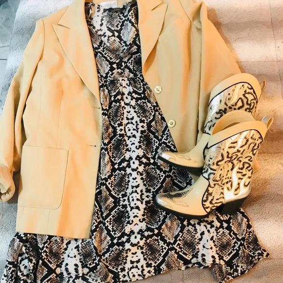 2 FOR $30. Zara Snake Print Mini Swing Dress.